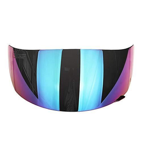 Full Face Motorrad Abnehmbarer Helm Objektiv Visor for LS2 FF352 FF351 FF369 FF384 Herausnehmbare UV-Strahlen Schutz NO LOGO KF-Visier Farbe : Dark Brown