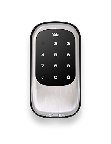Yale Security - Cerrojo de botones para puerta modelo YRD110-NR-0BP, color bronce antiguo, Níquel Satinad