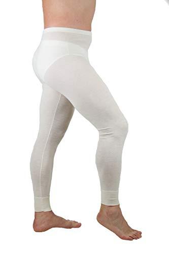 MANIFATTURA BERNINA Velan 30104 (Taglia 4) - Calzamaglia Termica Pantalone Intimo Uomo - Lana e Cotone