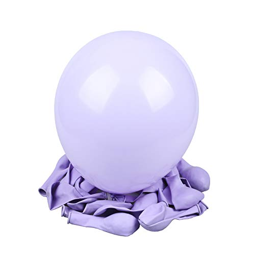 vLoveLife Lot de 20 ballons de couleur macaron en latex 25,4 cm 10'' violet