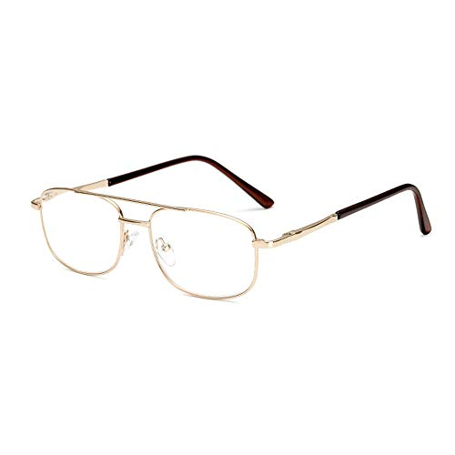 GEMSeven Metallrahmen Business Lesebrille Double Beam Springs Scharniere Presbyopie-brille Für Männer