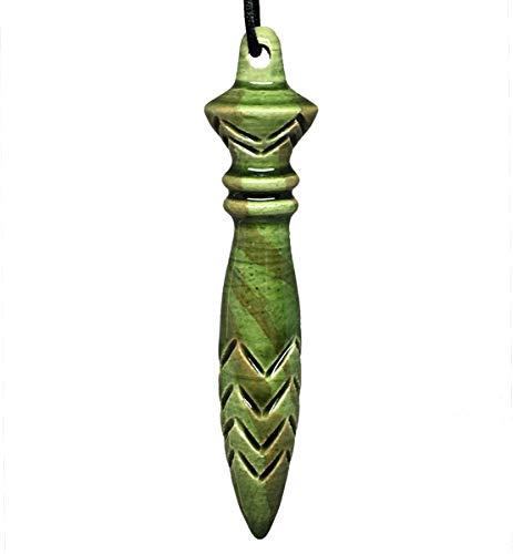 Pendule de Thot en céramique, Fait Main, Couleur Vert Lotus.
