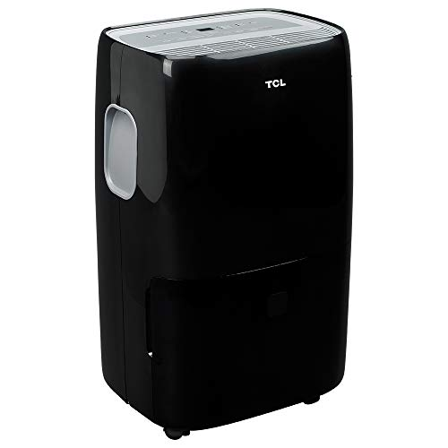 TCL 50 Pint (4,500 sq. ft.) Portable Dehumidifier w/Pump for Extra Large Rooms and Basements, Black