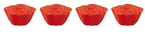 Zak Designs 0078-520 Jacks Rose Boite de 4 Dessous de Plats Modulables Rose Rouge
