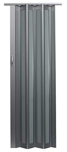 LTL Home Products HSMETRO3280ALTQ Spectrum Metro Frosted Plexiglas Accordion Folding Door, 36 x 80 Inches, Aluminum Turquoise