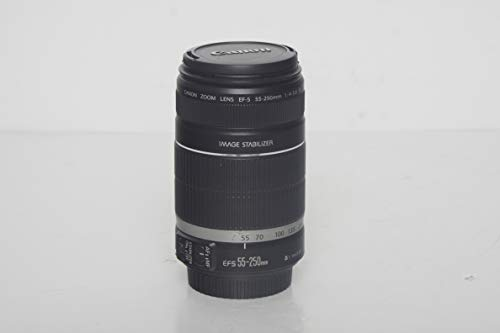 Canon EF-S 55-250mm f/4-5.6 is II Telephoto Zoom Lens for Canon EOS DSLR Cameras (White Box)