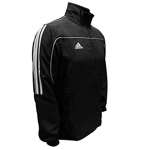 Adidas Combat Sports 3-Streifen 100% Polyester Langarm Light Track Jacke, Herren, schwarz / weiß, 128 (Youth Small)