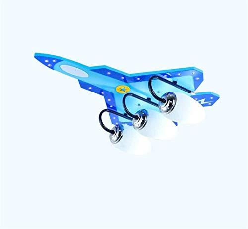 Nuokix Techo iluminación de la lámpara de luz Luces pendientes, Aviones Lámparas de techo, habitación de los niños de la lámpara de techo, luces de la habitación Boy Protección for los ojos de ilumina