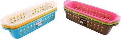 Kosh Plastic Rectangular Basket Storage Container(Pack of 6)