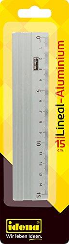 Idena 602121 - Alu - Lineal, 15 cm, silber, 1 Stück