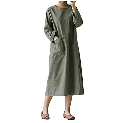 Vestidos de verano para mujer, vestido de sol para mujer, estilo literario, retro, de manga larga, japonés, Mori, talla grande, vestido de túnica casual, vestido de cita, vestido de fiesta