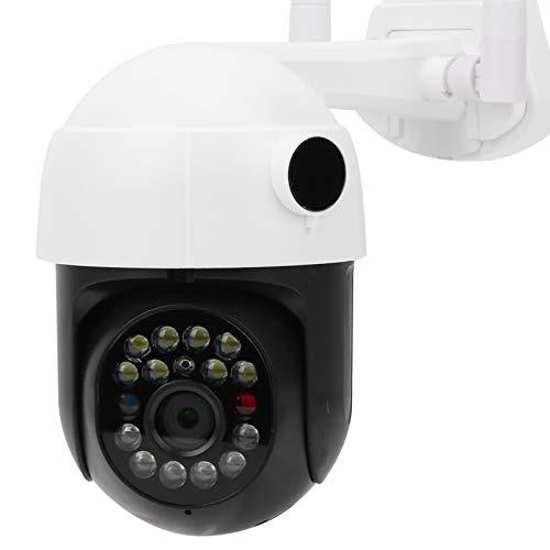Cámara WiFi 1080P, sistema de seguridad para el hogar con cámara domo, cámara de vigilancia para exteriores, control PTZ sensible de alta velocidad, alarma de detección de movimiento(EU)