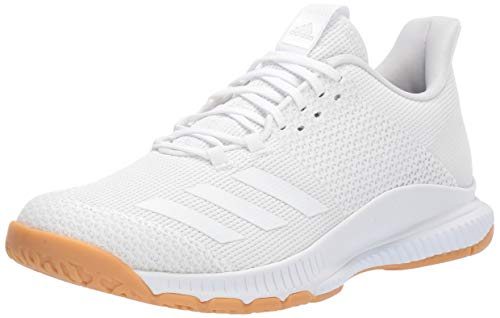 adidas Women's Crazyflight Bounce 3 Volleyball Shoe, White/White/Gum, 8 M US