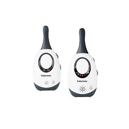 Babymoov Babyphone Simply Care Audio con función VOX, doble alarma y 2 adaptadores, alcance 300m