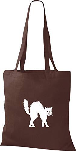 Shirtinstyle Stoffbeutel Katze Motive Rasse Katze Lustige Tiere Züchter Cat Diverse Farbe Chocolate