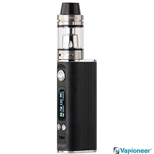 Vapioneer® Vision | E-Zigarette 5-80 Watt Leistung | E- Shisha Schwarz mit 2ml Tankinhalt für Liquid | Dampfer mit 2600mAh Akku | Verschiedene Modi