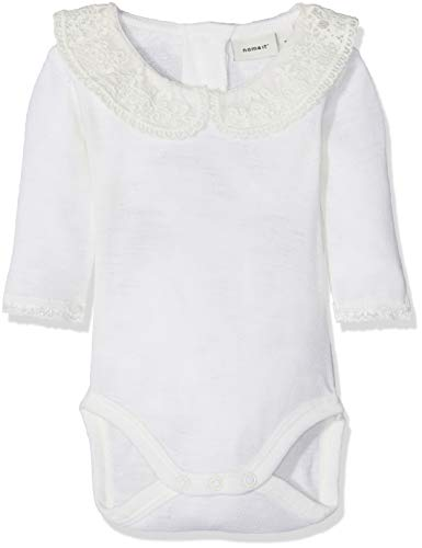 NAME IT Nbfwang Wool Need.LS Body W/Col Noos Polaina para Bebés