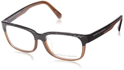 Porsche Design Brillengestelle P8707-C-54 Rechteckig Brillengestelle 54, Braun
