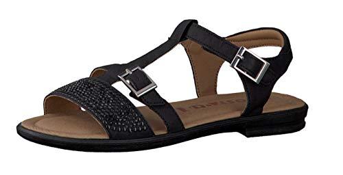 RICOSTA Mädchen Sandalen Bella 7020800, Kinder Riemchensandale,Römer-Sandale,Sandalette,Gladiatoren-Sandale,Sommerschuh,schwarz,34 EU