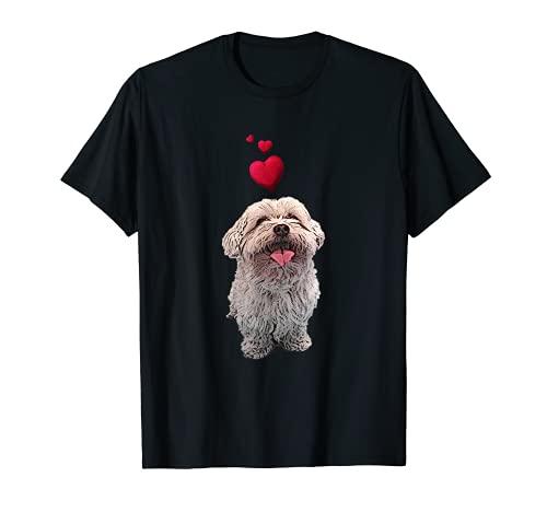 Shirt mit Malteser Hund und Herz Hundemotiv T-Shirt