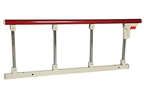 WCX Barrera De Cama Asidero de Seguridad Barra de Agarre Plegable Guardia Lateral para Personas Mayores Barandas de protección Barra de Agarre (Color : Red A, Size : 4cm L Brackets 95x40cm)