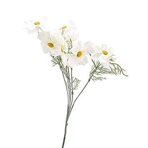 Silk Flower Arrangements GUAngqi Cosmos Artificial Flower Fake Flower Artificial Silk Flower Wedding Scene Decoration Fake Flower Bouquet,white