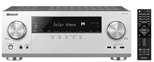 Pioneer 9.2 AV Receiver, VSX-LX303, 170 Watt/Kanal, 4K UltraHD Durchleitung, Dolby Atmos, DTS:X, WLAN, Bluetooth, Hi-Res Audio, Streaming, Musik Apps (Spotify u.a.), Internet Radio, Multiroom, Silber