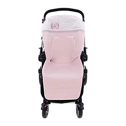 Colchoneta o funda de Paseo para silla Universal Rosy Fuentes en color rosa empolvado ⭐