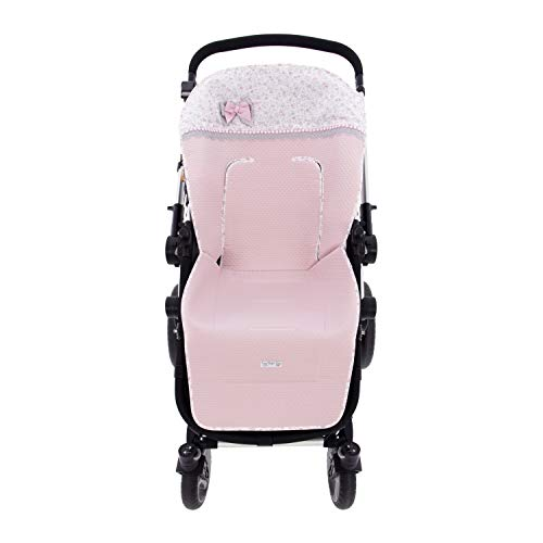 Colchoneta o funda de Paseo para silla Universal Rosy Fuentes en color rosa empolvado