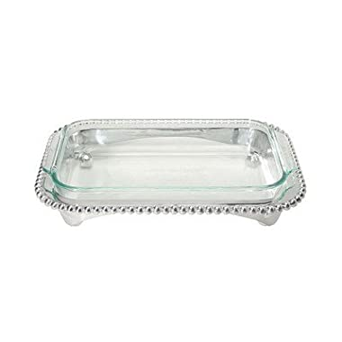 Mariposa Pearled Oblong Casserole Caddy