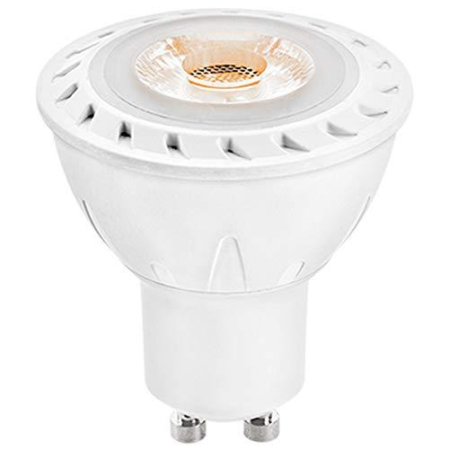 LEDANDO GU10 COB LED Strahler 7W - warmweiß - 530lm - Reflektor - 50W Ersatz - Energieeffizienzklasse A+ [ 7 W LED Spot - LED Leuchtmittel - LED Strahler 7 Watt Akzentbeleuchtung]