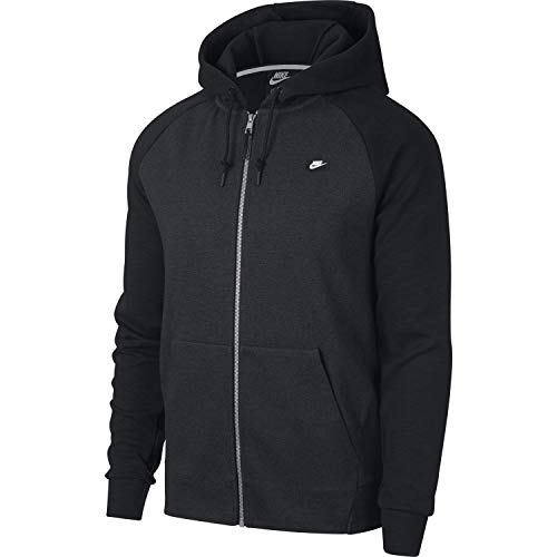 Nike Optic Full Zip Sudadera, Hombre, Negro (Black/Heather), XS