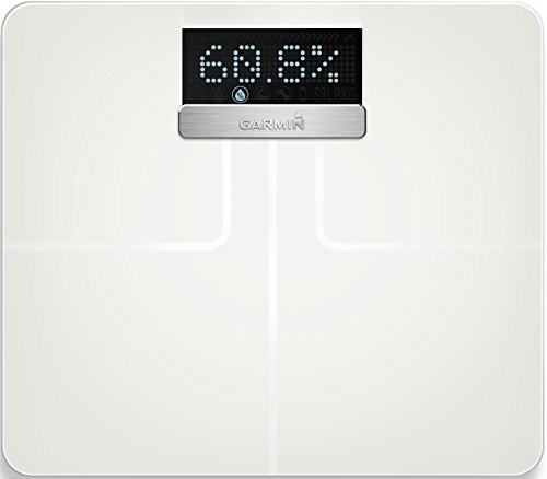 Garmin Index Smart Scale with Connected Features - Measures Weight, Body Mass Index, Body Fat, Muscle Mass and More - White