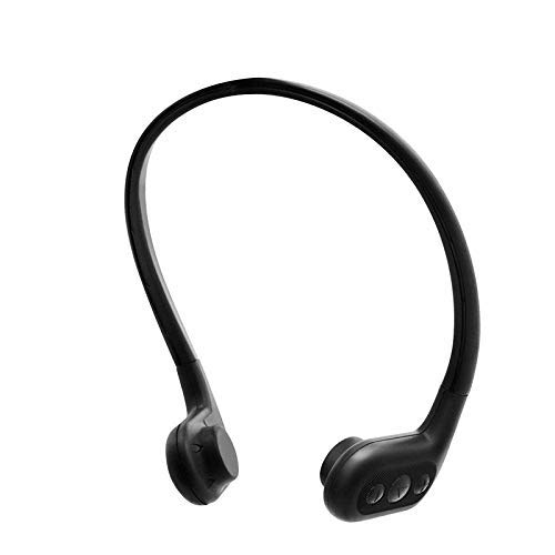 Tayogo 8GB Waterproof MP3 Player Bone Conduction Bluetooth Swimming Headphones Support FM APP with Shuffle Feature - Black