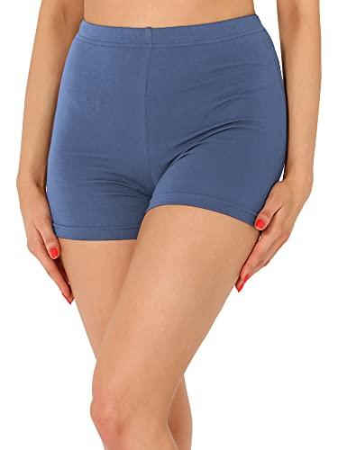 Merry Style Damen Shorts Radlerhose Unterhose Hotpants Kurze Hose Boxershorts aus Viskose MS10-391 (Jeans, XXL)