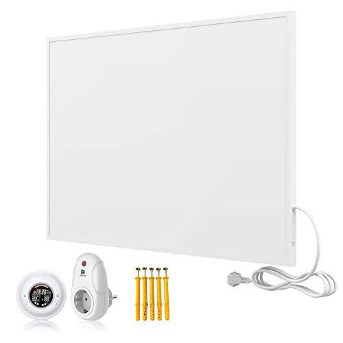 Bringer Infrarotheizung Infrarot Wandheizung Heizung Heizkörper Thermostat (800 Watt, Heizplatte und Thermostat mit Fernbedienung (BRTF))