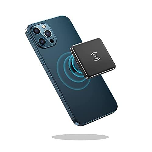 DNGDD Banco de energía magnético inalámbrico de 7.5W Carga rápida, Cargador magnético USB C Mini Cargador de teléfono portátil para All-i-Phone 12 Pro/MAX/Mini - Paquete de batería Externa com