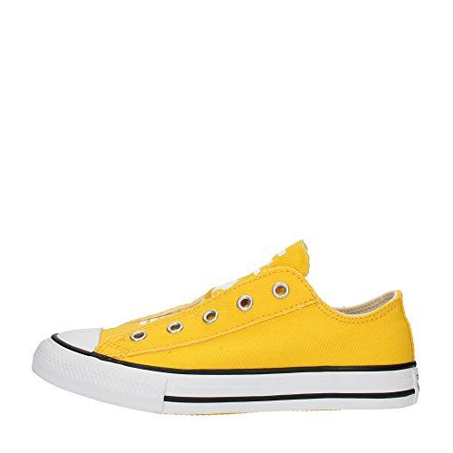 Converse Ctas Simple Slip Sneaker Gialla da Bambino 668008C
