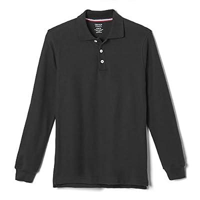 French Toast Big Boys' Long-Sleeve Pique Polo Shirt, Black, Medium/8