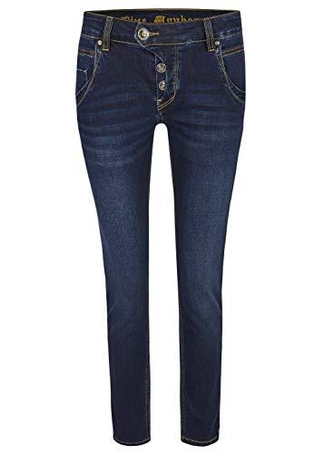 Blue Monkey Damen Jeans Hose Manie mit dekorativen Details