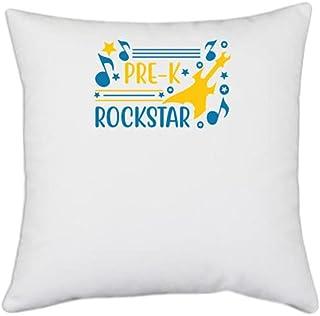 UDNAG White Polyester 'Student Teacher | Pre-k Rockstar' Pillow Cover [16 Inch X 16 Inch]