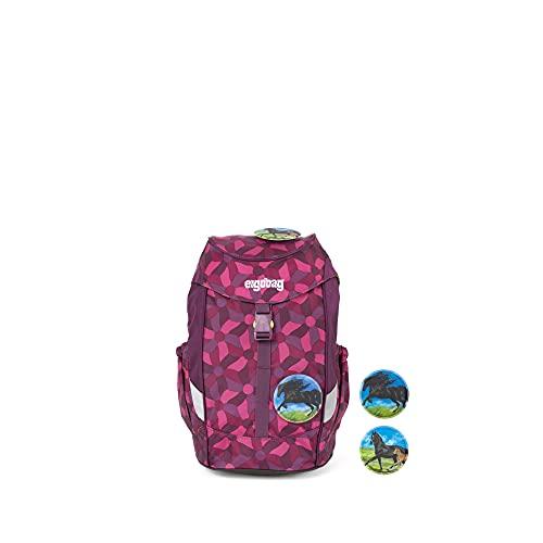 ergobag mini - ergonomischer Kinderrucksack, DIN A4, 10 Liter, 500 g - NachtschwärmBär - Lila