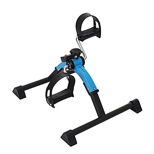 Massage-AED Mini Bicicleta Estática Eléctrica Portátil Bicicleta De Pedal Estacionaria Ejercitador De Pedal De Ciclo De Resistencia Ajustable para Ejercicio De Piernas Y Brazos
