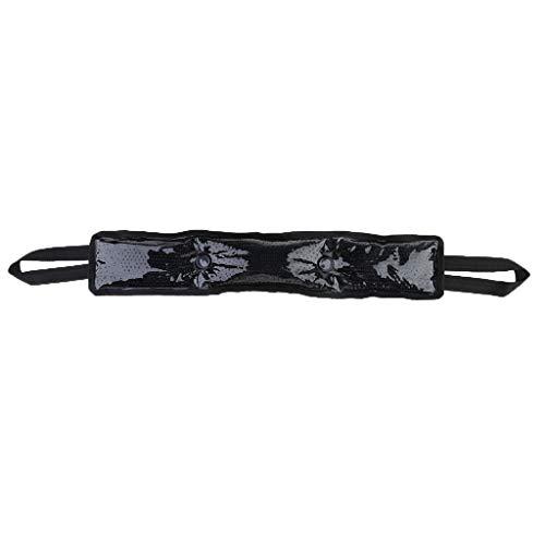 joyMerit Envoltura de Bolsa de Hielo Reutilizable Terapia de Frío Caliente Cuello Hombro Pierna Brazo Deporte Primeros Auxilios - Negro, 62 x 12 x 3 cm