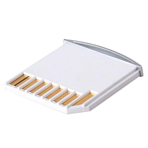 Kakiyi Micro SD TF a SD Tarjeta Mini Adaptador de Almacenamiento Extra expansión de Repuesto para Macbook Air Pro, Color Blanco