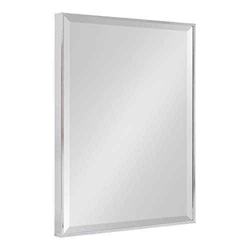 Kate and Laurel Rhodes Framed Decorative Rectangle Wall Mirror, 18.75x24.75 Chrome -