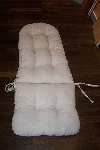 Rotan in trendy schommelstoel - pad linnen lichtgrijs 120 x 50 Duitse productie kussen voor schommelstoel en hangschommel