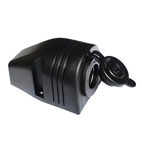 12V Moto Coche Encendedor de Cigarrillos Toma de Corriente Toma de Corriente Impermeable Negro