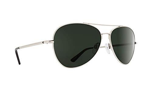 Spy - Mens Whistler Polarized Sunglasses 2019, Silver-Happy Gray Green Polarized
