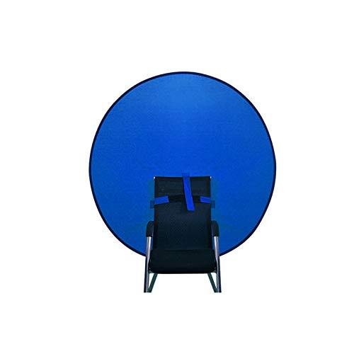 DASNTERED Pantalla de fondo de estudio, pantalla de fondo de transmisión en vivo para silla plegable portátil (azul, tamaño: 75 cm)